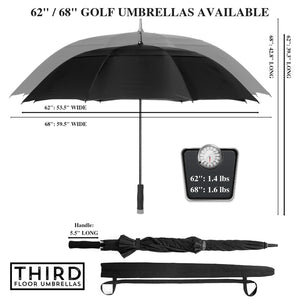 7c6731f64441ce 62 Inch Automatic Open Golf Umbrella - Black/White – Third Floor ...