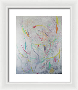 Marks In The Air - Framed Print