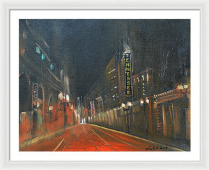 Streets Of Passion - Framed Print