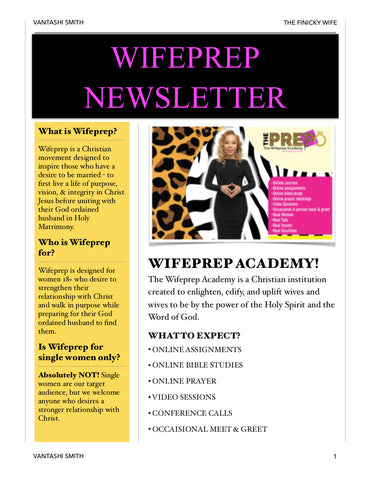 🎀WIFEPREP ACADEMY-FREE for the month of July🥰