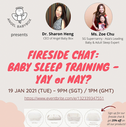 Fireside Chat: Baby Sleep Training. Join Us on the 19th January!