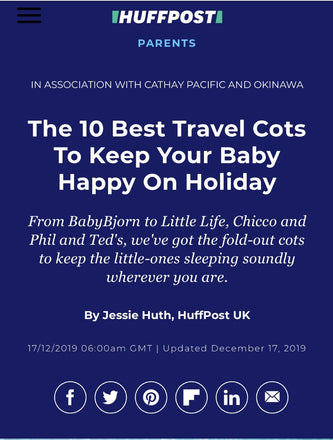 Listed top 10 Best Travel Cots on Huffington Post!