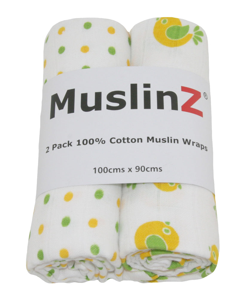 100% Premium Extra-Large Cotton Muslin Swaddles