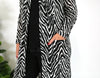 Cotton and Style steph cardigan black white zebra print another view