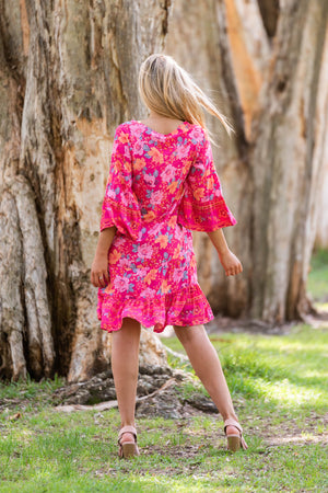Cotton and style lottie dress rose pink 1
