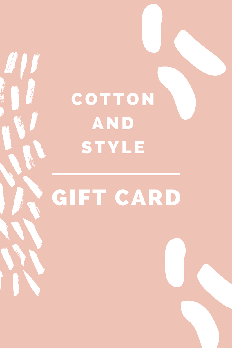 Cotton and Style gift card