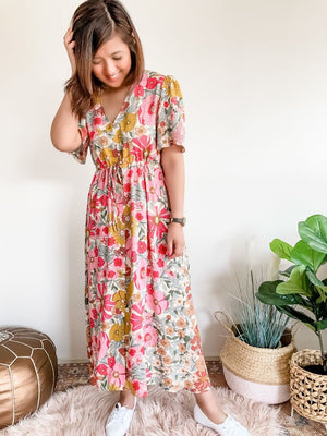 AVERY MAXI DRESS-Multi Floral