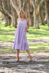 Colan sleeveless cotton midi dress lilac