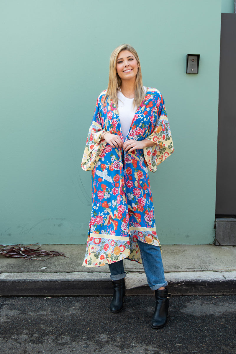 Cotton and Style solange kimono blue