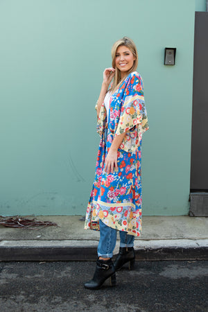 Cotton and Style solange kimono blue another view