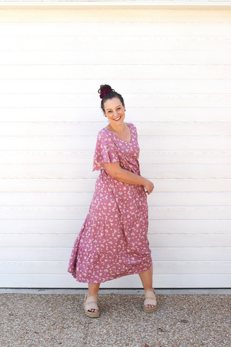 COBIE TIER MAXI DRESS Rose Pink