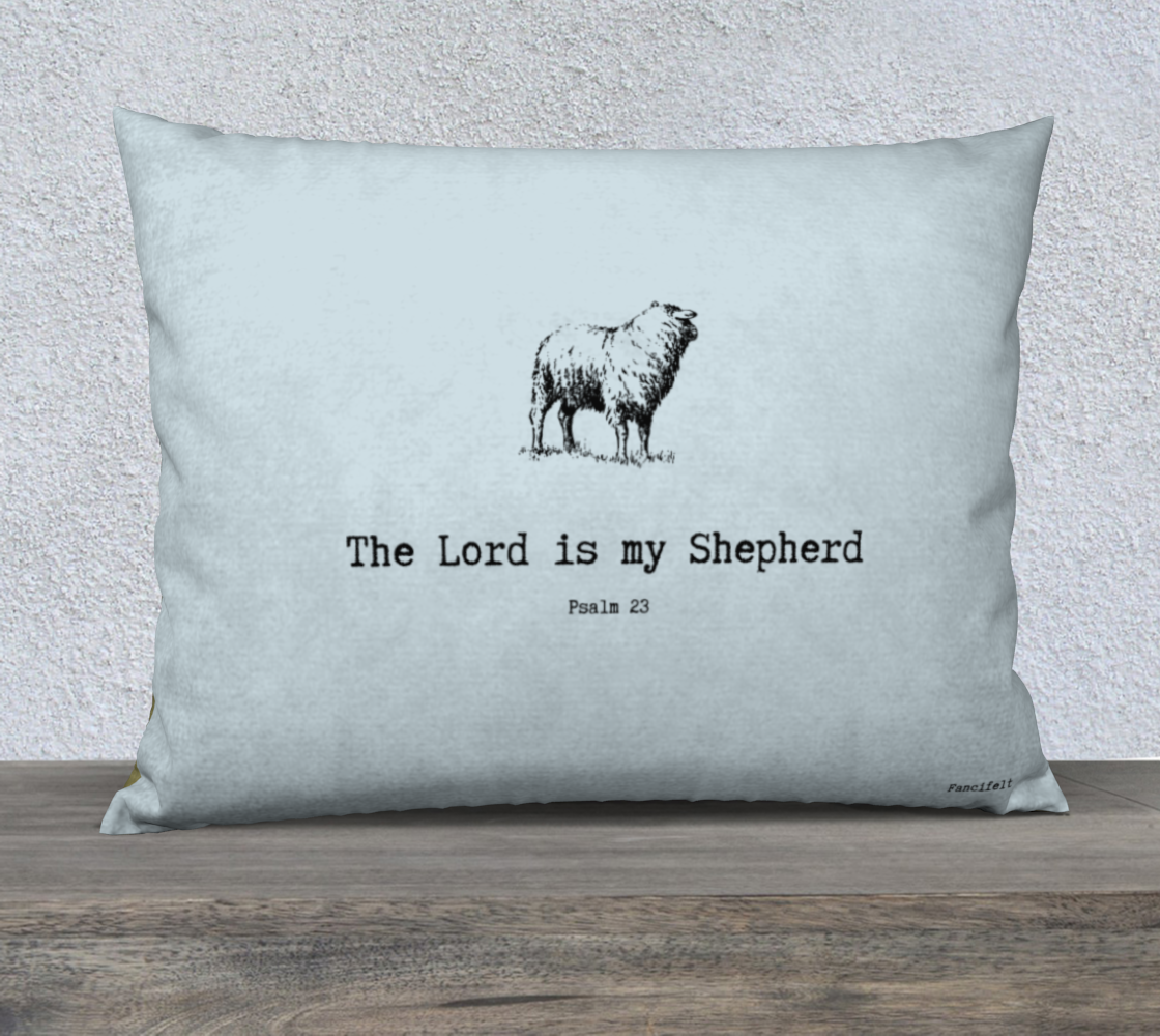 Psalm 23 Sheep Pillow