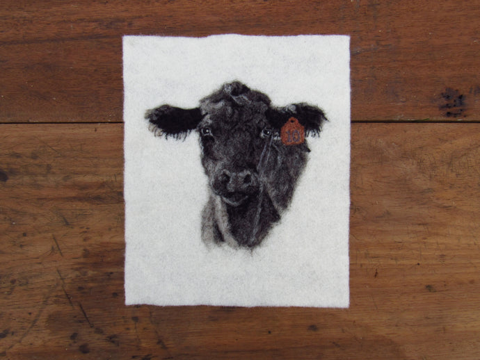 Angus No. 10 Cow: Original Felting