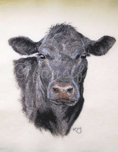 Angus Cow Signed Print