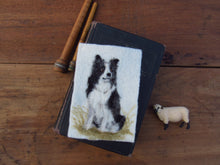 Load image into Gallery viewer, Border Collie Mini Portrait: Original Felted Art