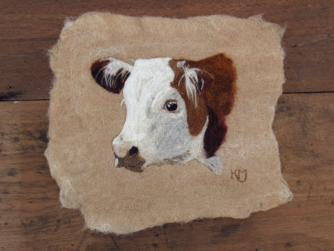 Hereford Calf: Original Felting