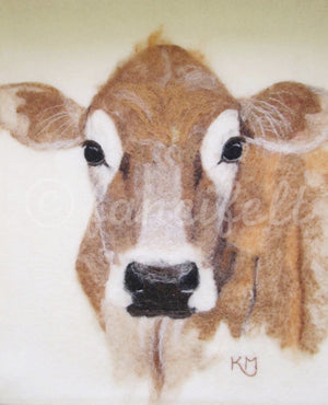 Jersey Cow Signed Print