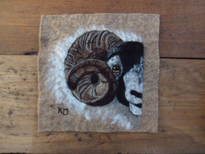 Scottish Ram: Original Felting