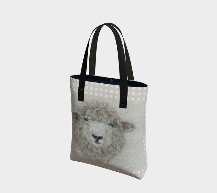 Felted Sheep Face Tote
