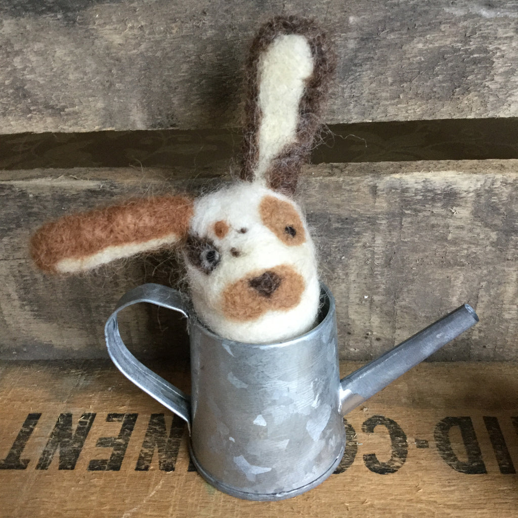 Spotted Watering Can Bunny