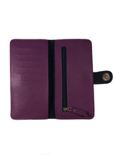 Load image into Gallery viewer, Saffiano Deep Purple Ladies Wallet