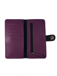 Saffiano Deep Purple Ladies Wallet