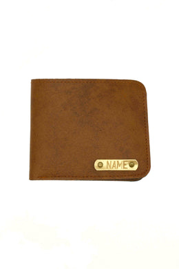 Vegan Leather Camel Brown Mens Wallet