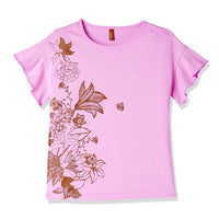 Girl's Plain Regular Fit T-Shirt
