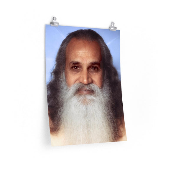 Swami Satchidananda - Blue Background