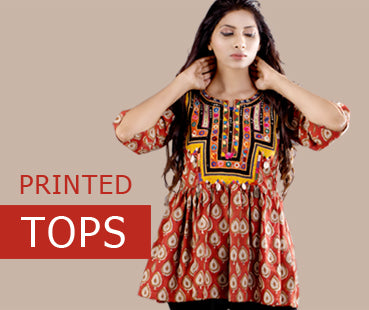 Printed tops collection