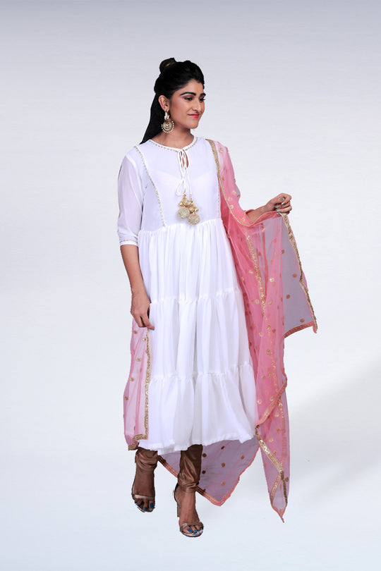 TIER KURTA SET