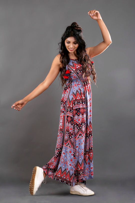 AZTEC TIE KNOT DRESS