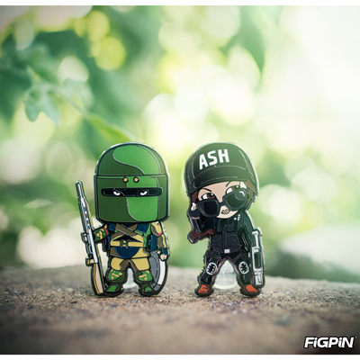 Rainbow Six Siege Ash & Tachanka FiGPiN Minis at SDCC!