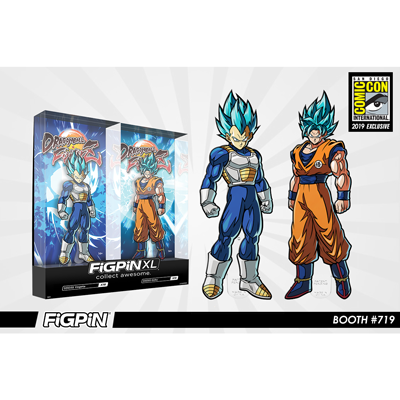 SDCC 2019 Exclusive Reveal: Dragon Ball FighterZ - SSGSS Vegeta & SSGSS Goku FiGPiN XL 2-pack!