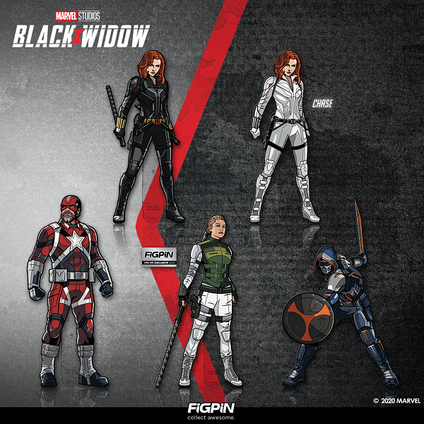 We are so excited, we can't wait any longer to release our new Marvel Studios' Black Widow FiGPiN collection!