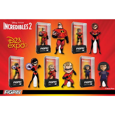 D23 Expo: Disney and Pixar's Incredibles 2 FiGPiNs!