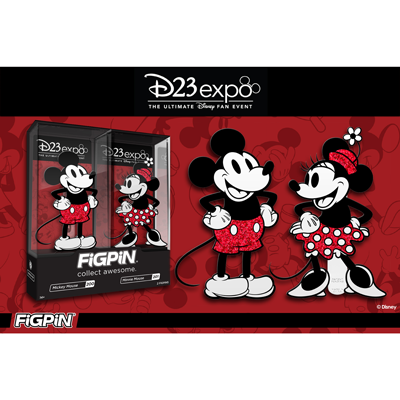 D23 Expo: Disney's Mickey Mouse & Minnie Mouse Glitter FiGPiN 2-pack!