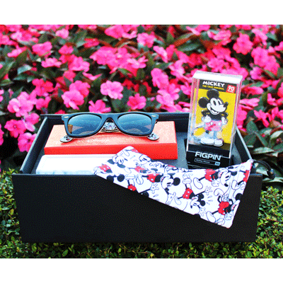 Sunglass Hut Gift Set with Mickey Mouse Wayfarer Ray-Bans & FiGPiN!