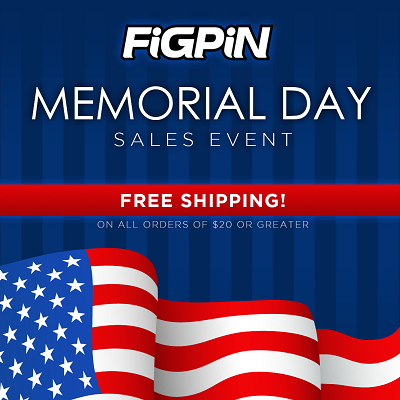 Enjoy FREE Shipping this Memorial Day Weekend on FiGPiN.com!