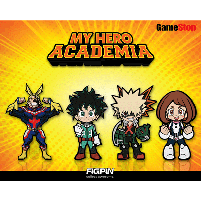 My Hero Academia FiGPiN Minis headed to GameStop!