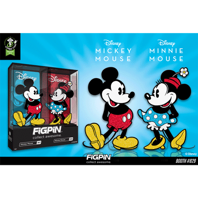 ECCC 2020: Disney's Mickey Mouse & Minnie Mouse Glitter FiGPiN 2-pack!