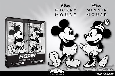 Disney's Mickey Mouse and Minnie Mouse Black and White 2-Pack is our next FiGPiN.com Exclusive!