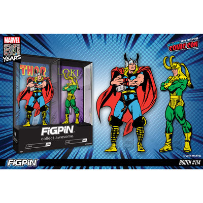 NYCC 2019: Marvel 80th - Thor & Loki FiGPiN 2-pack!