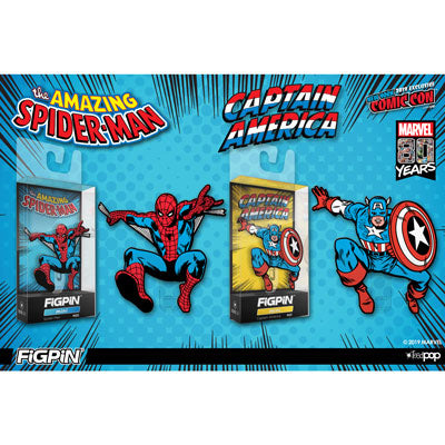NYCC 2019: Spider-Man & Captain America FiGPiN Minis in the Official NYCC Store!