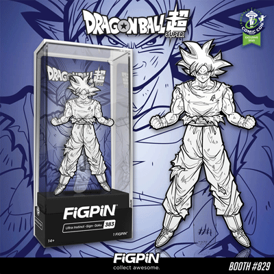 ECCC 2020: B&W Dragon Ball Super Ultra Instinct -sign- Goku FiGPiN!