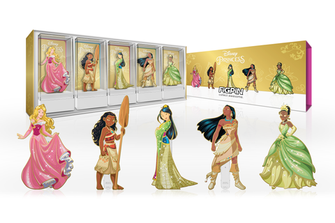 FiGPiN: Disney Princess - 2021 Gold-Plated Deluxe Box Set FiGPiN.com limited edition exclusive / 1k pcs ($115)