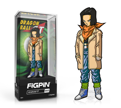 FiGPiN: Dragon Ball GT - Android 17 #663 FiGPiN Exclusive / 2k pcs ($20)