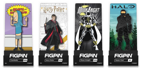 Images of some FiGPiN Exclusive pins