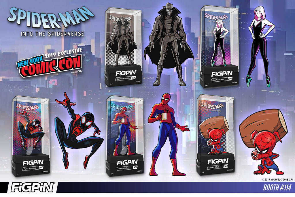 2019 NYCC EXCLUSIVE FIGPIN SPIDERMAN INTO THE SPIDERVERSE Peter Parker 301 1500