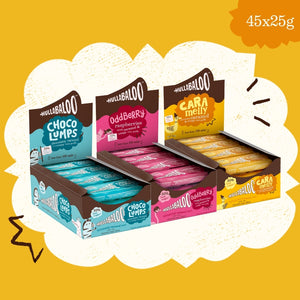 Caramel & Rice Crisps Bars- All Three Flavours Megapack (45x25g)